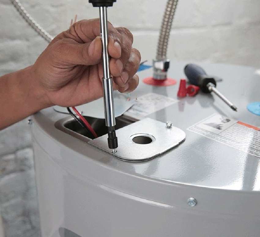 install an electric water heater